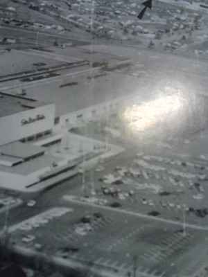 Aerial view of Stix, Baer & Fuller and River Roads Mall