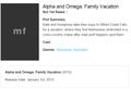 Alpha and Omega 5 Plot Summary  - alpha-and-omega photo