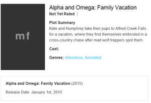 Alpha and Omega 5 Plot Summary
