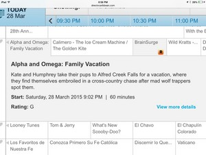 Alpha and omega family vacation plot and mins