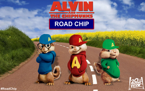 Alvin at mga tsipmank wolpeyper called Alvin and the Chipmunks 4 Road Chip Postcard
