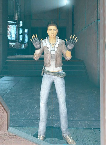 Half Life wallpaper possibly containing long trousers, a pantleg, and slacks called Alyx Vance | Half-Life 2: Episode One