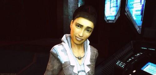Half Life hình nền possibly containing a box áo, áo khoác called Alyx Vance