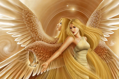 Fantasy Hintergrund called Engel