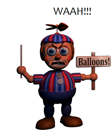 Five Nights at Freddy's wallpaper entitled Angry Balloon Boy