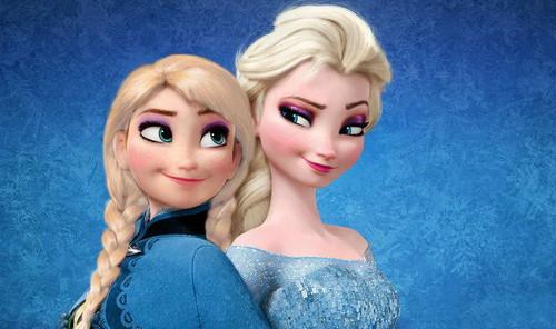 Elsa the Snow क्वीन वॉलपेपर titled Anna and Elsa