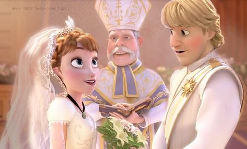 Elsa und Anna Hintergrund called Anna and Kristoff's Wedding