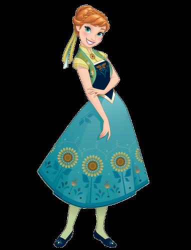 Frozen Fever Hintergrund titled Anna