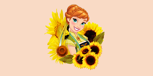 Frozen Fever Hintergrund probably containing a bouquet and an oriental mohn titled Anna