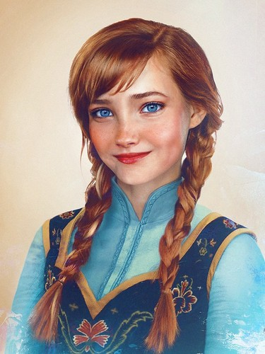 Disney Extended Princess karatasi la kupamba ukuta possibly containing a portrait entitled Anna in real life