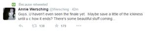Annie Wersching tweet