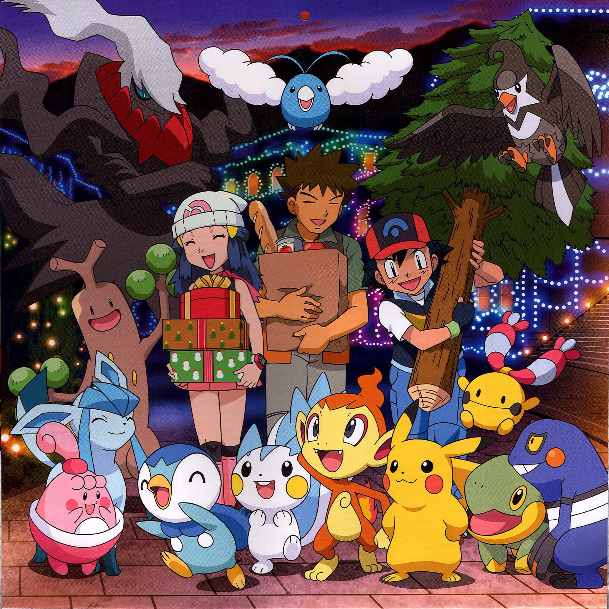 Ash, Pikachu, and the rest of the gang