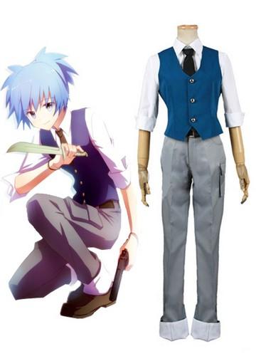 Ansatsu Kyoushitsu پیپر وال with a well dressed person called Assassination Classroom Class 3-E Nagisa Shiota Suit Cosplay Costume