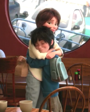Aunt Cass and Hiro