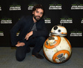 BB-8 and Oscar Isaac at The Star Wars Celebration