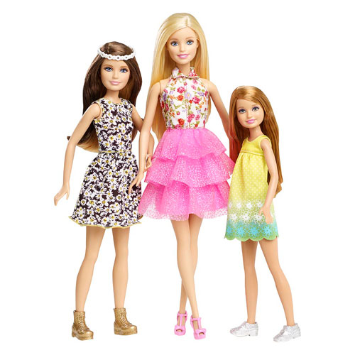 filmes de barbie wallpaper probably containing a coquetel dress called barbie & Her Sisters: The Great cachorro, filhote de cachorro Adventure Doll 3-Pack