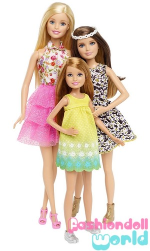 Барби & Her Sisters: The Great щенок Adventure Barbie, Skipper, Stacie 3-Pack
