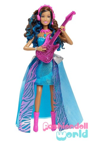 Barbie in Rock'n Royals chant Erika Doll