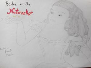 Barbie in nutcracker drawing