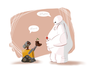 Baymax and Wall-e