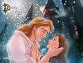 Belle and Adam - disney fan art