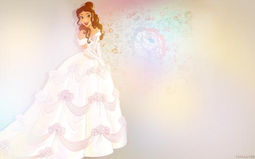 ディズニープリンセス 壁紙 entitled Belle's Wedding Dress ( no words version)