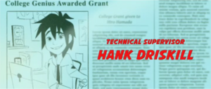 Big Hero 6 newspaper 기사 shown during the credits