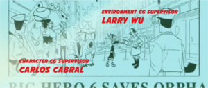 Big Hero 6 newspaper 기사 shown during the credits