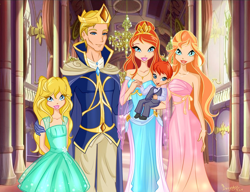 The Winx Club پیپر وال titled Bloom's and Sky's Family