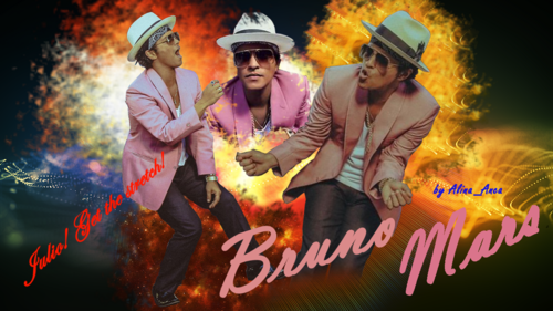브루노 마스 바탕화면 possibly containing a sign titled Bruno Mars