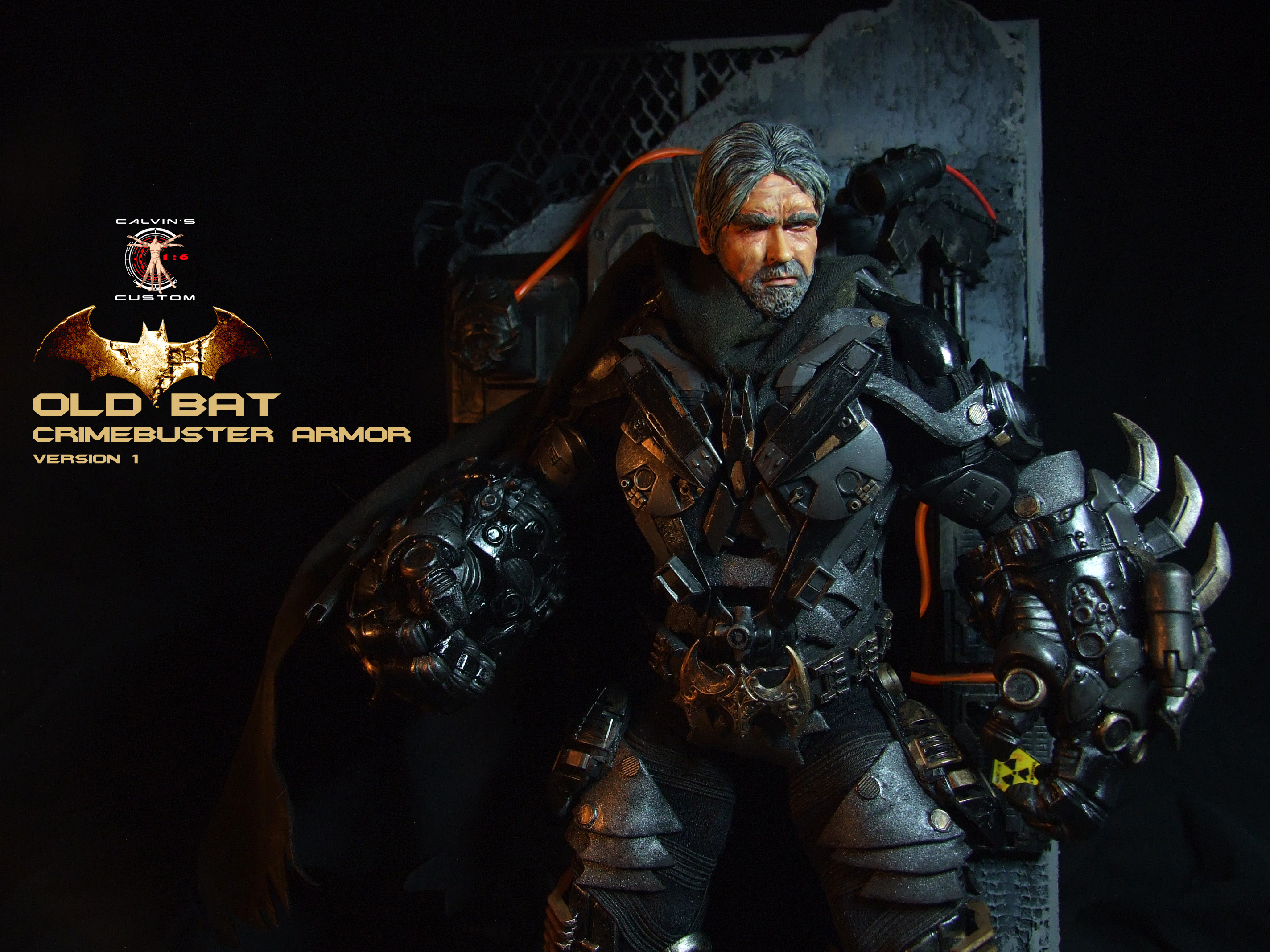 Calvin's Custom 1:6 One Sixth Original desain OLD BAT in CRIMEBUSTER Armor