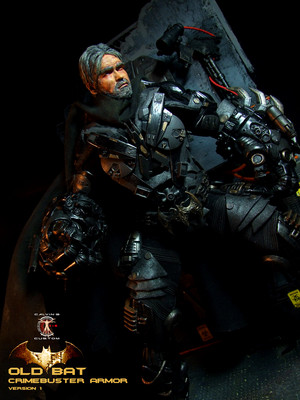 Calvin's Custom 1:6 One Sixth Original diseño OLD BAT in CRIMEBUSTER Armor