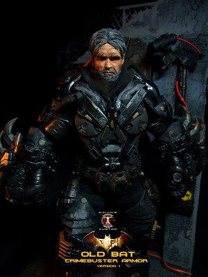 Calvin's Custom 1:6 One Sixth Original 디자인 OLD BAT in CRIMEBUSTER Armor