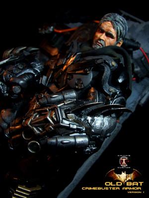 Calvin's Custom 1:6 One Sixth Original 디자인 OLD BAT in CRIMEBUSTER Armor
