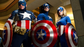 Captain America cosplay toon