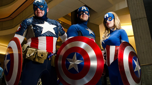 Captain America cosplay mostra