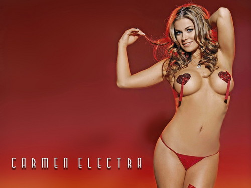 Carmen Electra wallpaper possibly containing a bikini, a swimsuit, and a g string called Carmen Electra