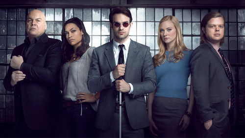 Daredevil (Netflix) wallpaper probably with a business suit entitled Cast of Season One