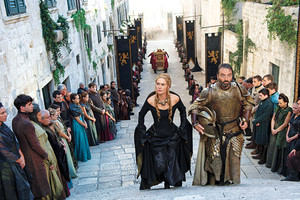 Cersei Lannister and Meryn Trant