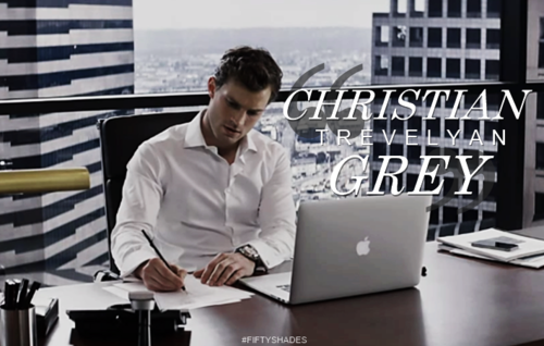 Fifty Shades of Grey wallpaper possibly with a laptop called Christian Grey