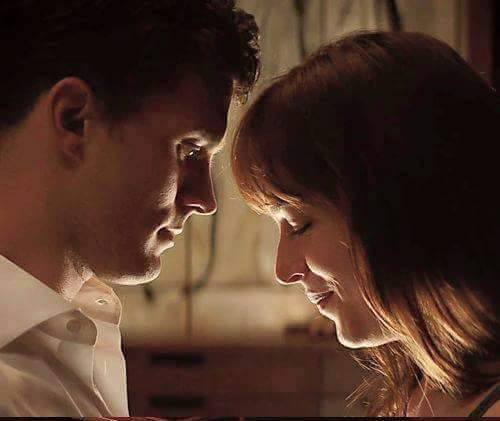 Fifty Shades of Grey wallpaper probably containing a portrait called Christian and Ana