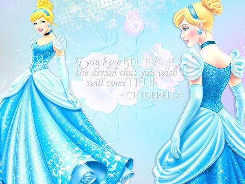 Disney Princess wallpaper possibly with a gown, a dinner dress, and a balldress titled Cinderella Wallpapers