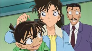 Conan, Ran, and Kogoro