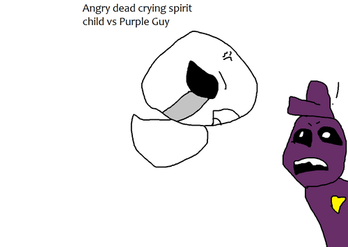 Five Nights at Freddy's kertas dinding called Crying child spirit vs Purple Guy