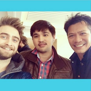 Daniel Radcliffe With fans At Shangri-La Hotel,The Shard,London (fb.com/DanielJacobRadcliffefanClub)
