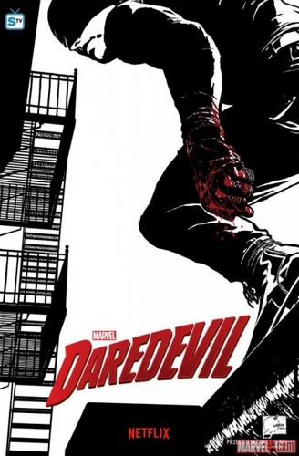 Daredevil (Netflix) 壁紙 with アニメ titled Daredevil - Promotional Poster
