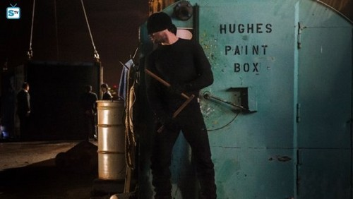 Daredevil (Netflix) 壁紙 possibly containing a ボールト, 金庫, ヴォールト and a sign entitled Daredevil - Season 1 - Promotional Pictures