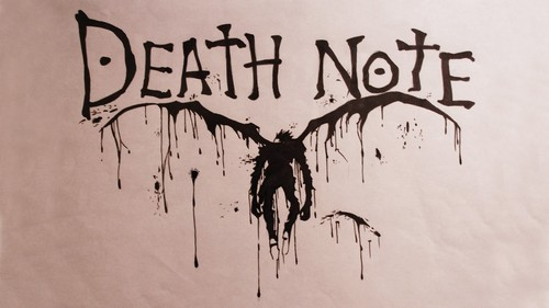 डेथ नोट वॉलपेपर possibly with a sign entitled Death Note