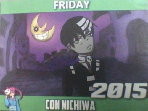 Soul Eater (Пожиратель душ) Обои with Аниме titled Death the Kid on Friday March 20th 2015 Con Nichiwa Comic Con день pass
