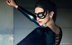Deepika Padukone GG Magazine In Black Dress